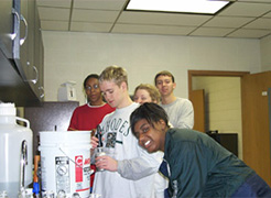 Students at the Meeman Educational tours