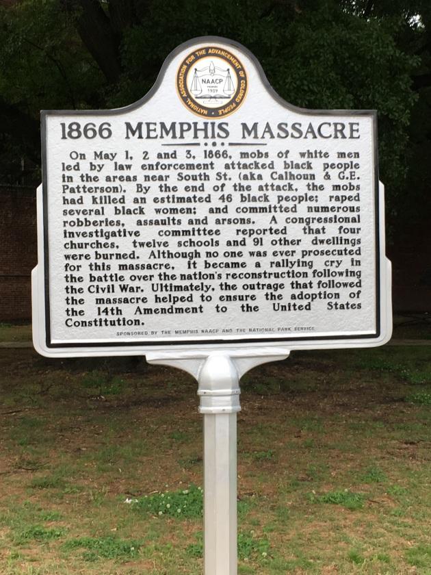 Memphis Massacre Marker