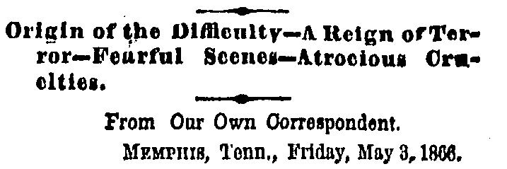 NYTimes Headline 12 May 1866