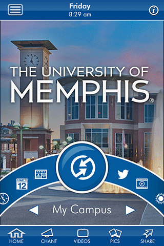 My Campus option in the mobile application