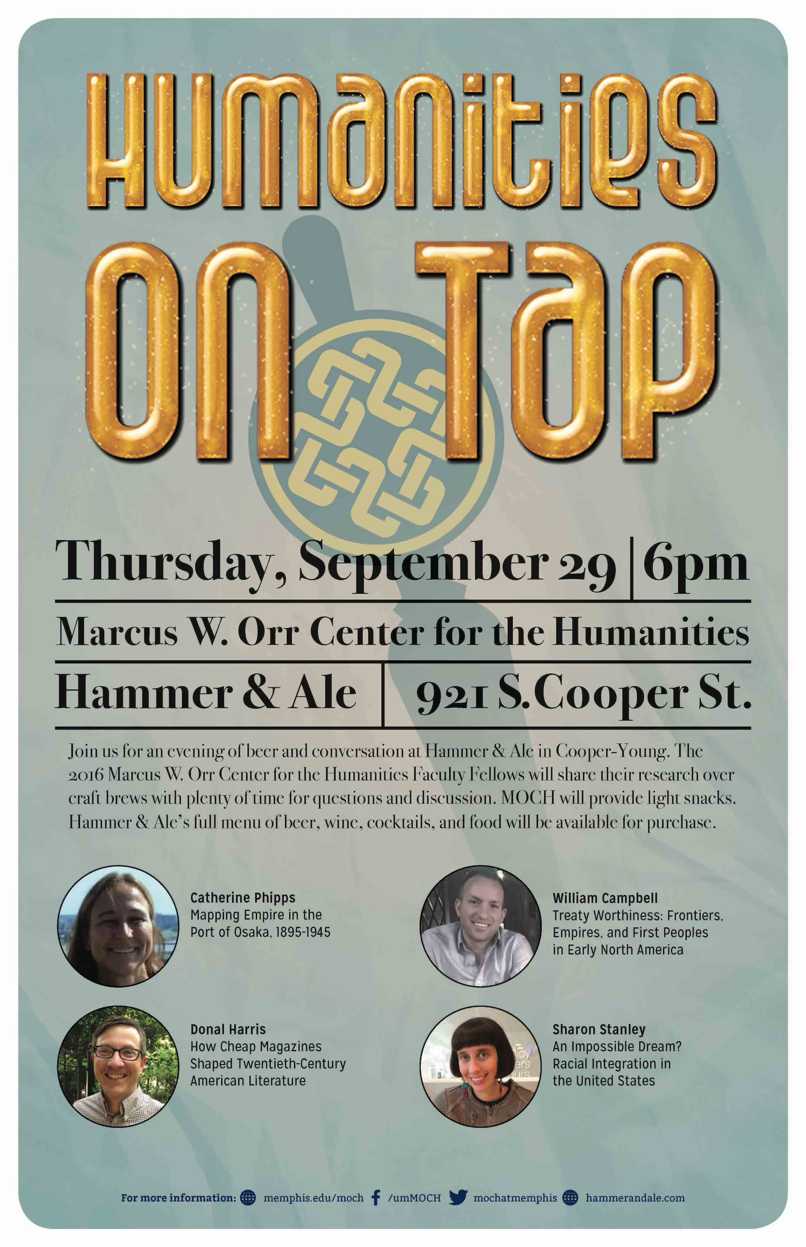 MOCH Humanities on Tap Poster
