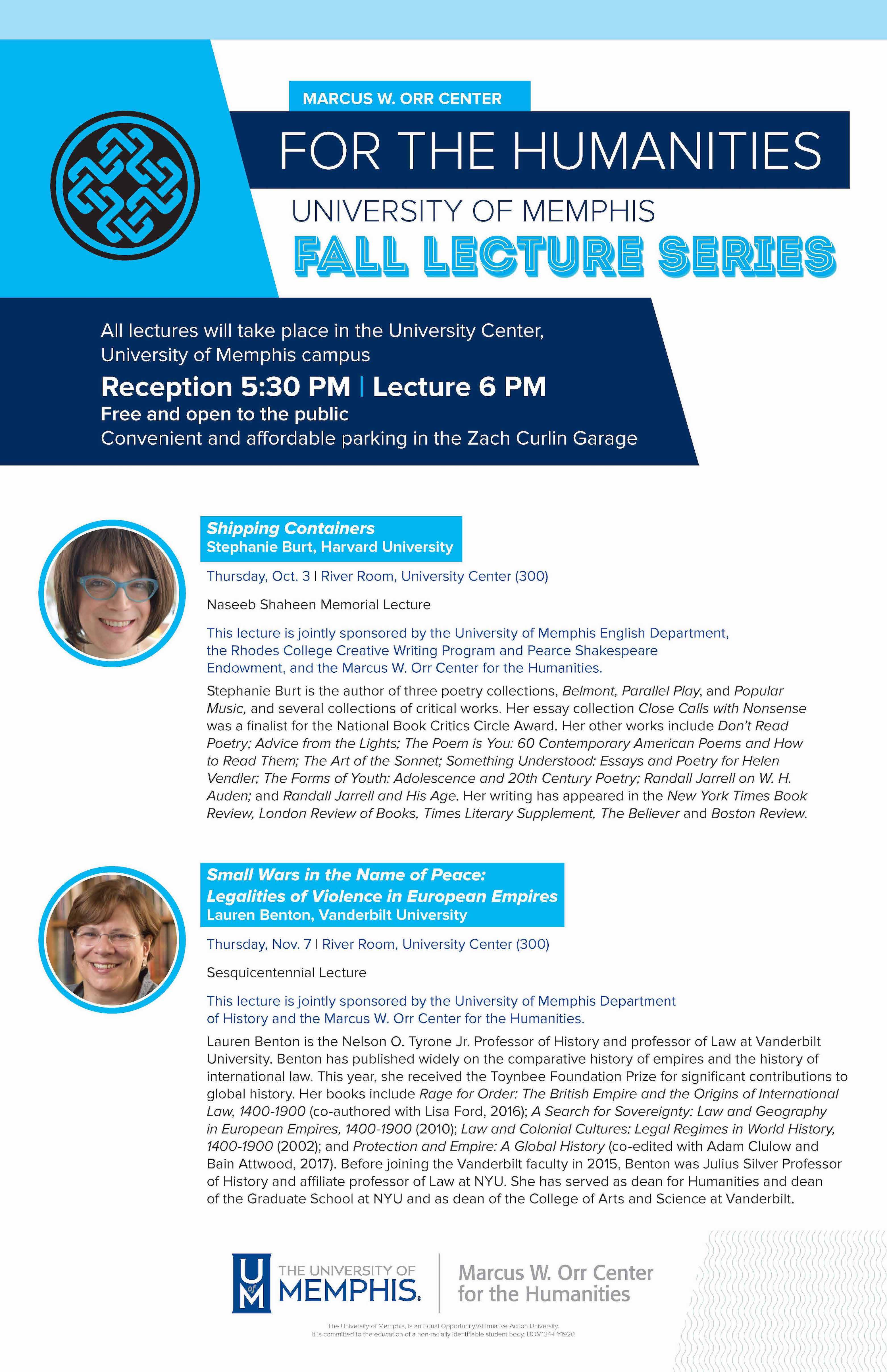 MOCH Fall 2019 Lecture Series