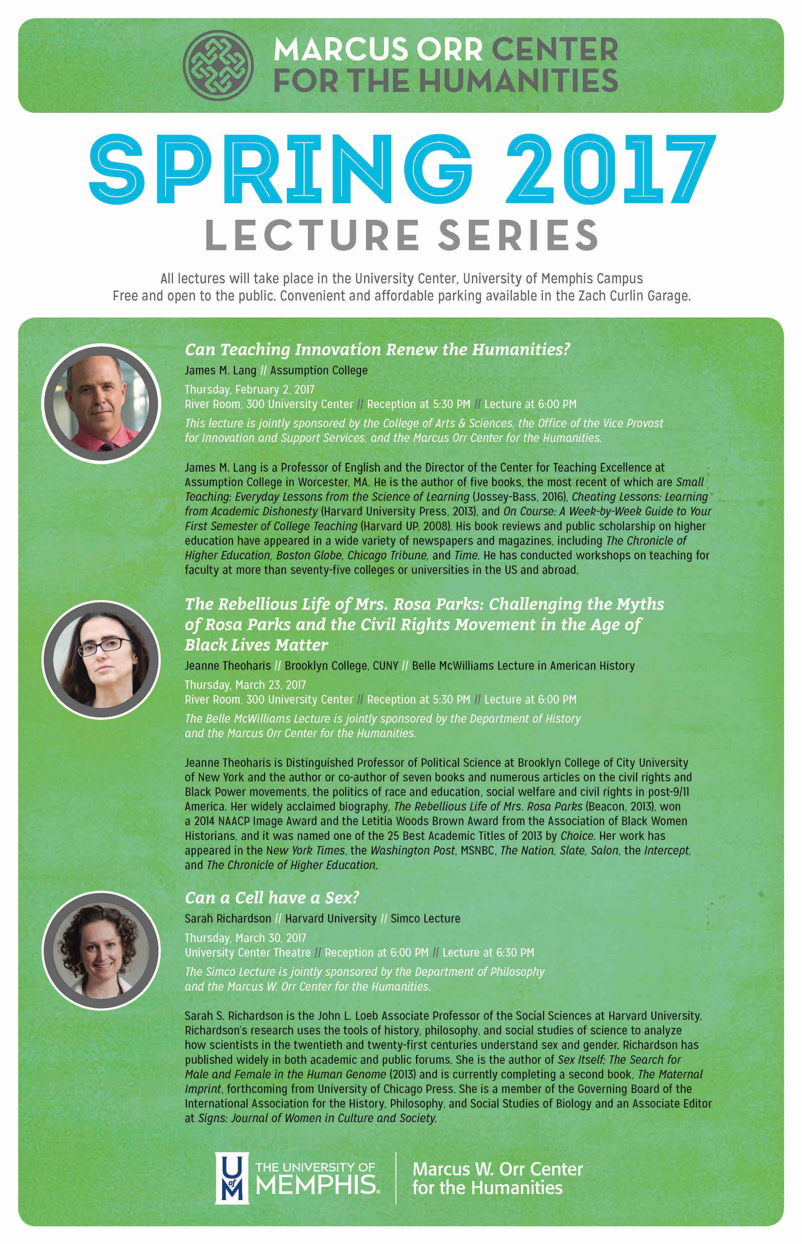 Spring 2017 Lecture Series