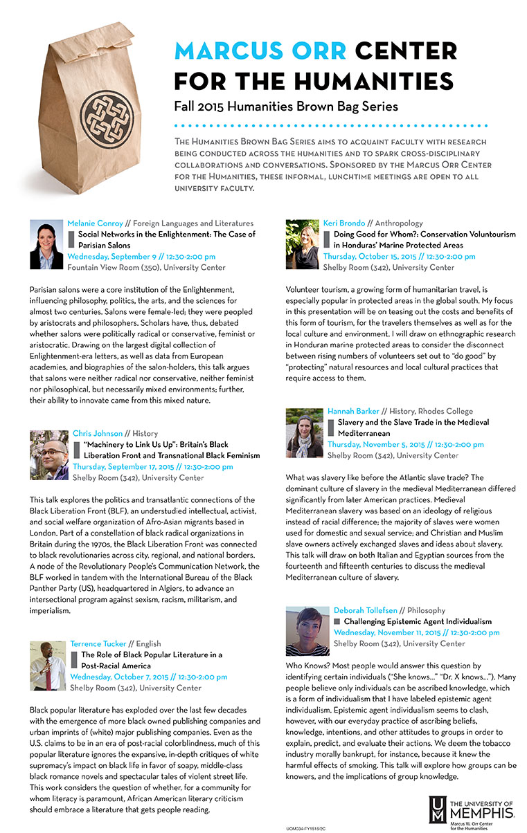 Fall 2015 Brown Bag Series
