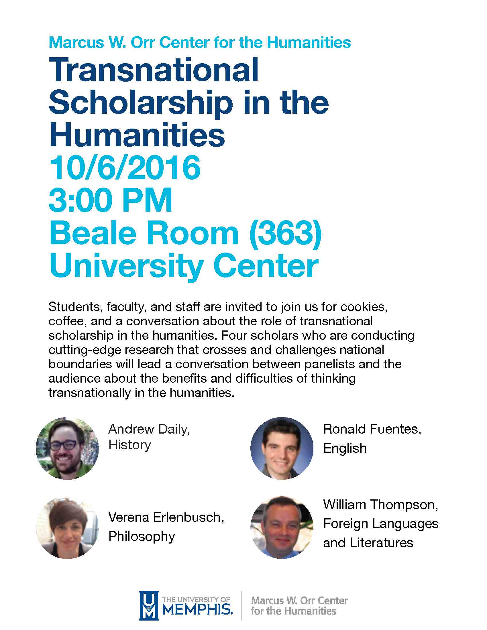 Transnational Scholarship Panel Flyer