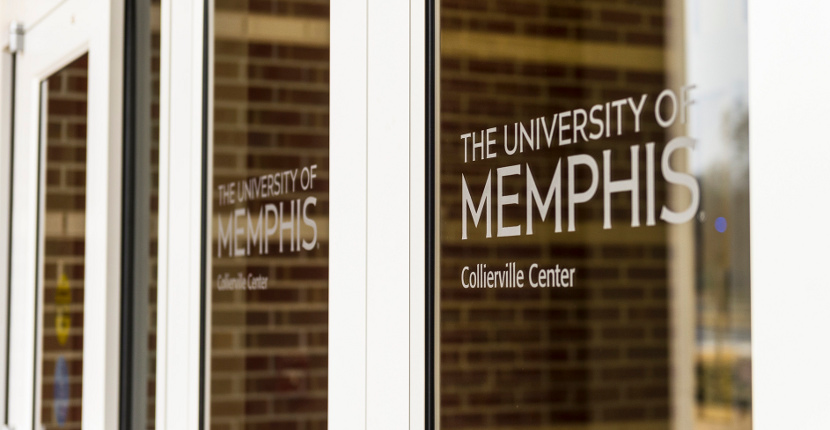 The University of Memphis Collierville Center front doors