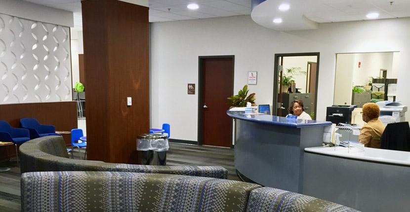 New clinic lobby