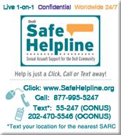 Safe Helpline Logo www.safehelpline.org call 8779955247