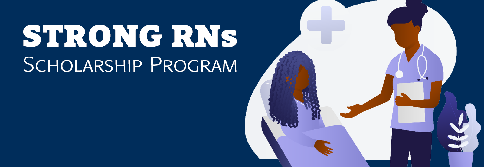 Strong RNs scholarship program with graphic
