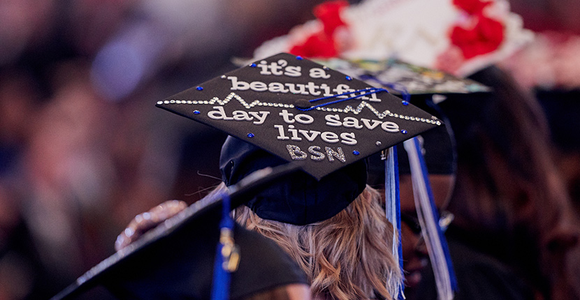 """It's a beatiful day to save lives."" grad cap"