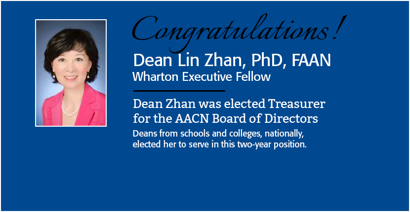 Zhan elected AACN Board of Directors treasurer
