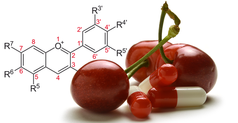 genetic makeup image, aside cherries, and medicine photo