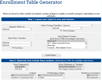Enrollment Table Generator Thumbnail