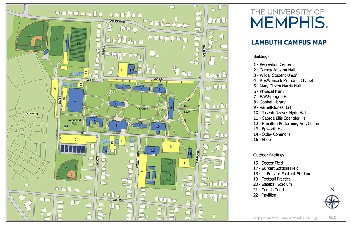Parking at the University of Memphis Lambuth & Millington ...