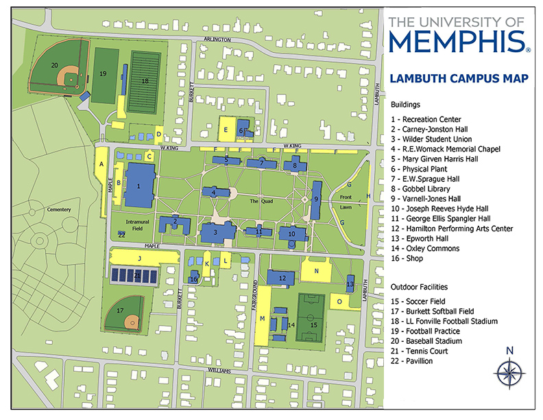 Parking at the University of Memphis Lambuth & Millington Campuses
