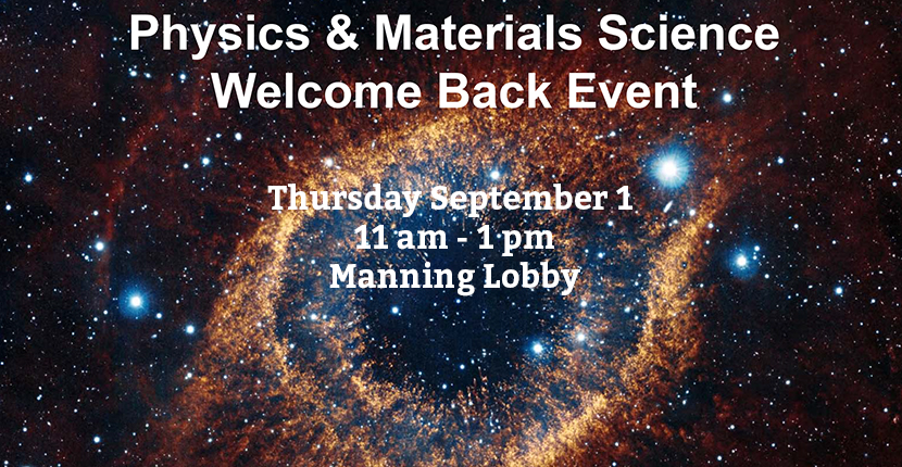 Physics and Materials Science Welcome