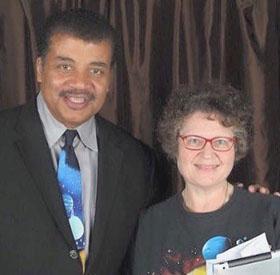 Joanne Rhodes and Neil deGrasse Tyson, taken in 2016