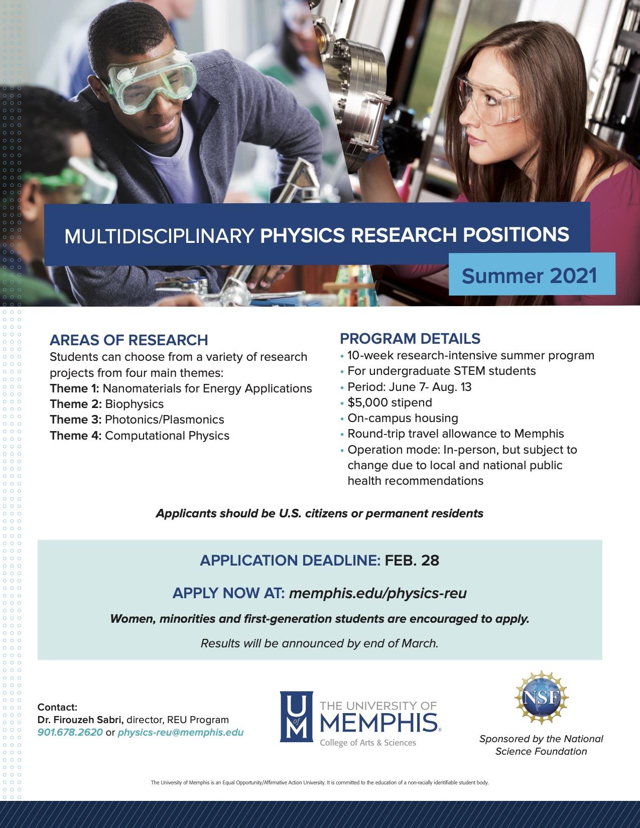 UofM 2021 Physics REU