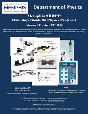 Memphis SHOPP (Saturdays Hands On Physics Program)