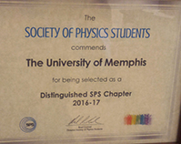 Department of Physics and Materials Science SPS receives distinguished chapter award
