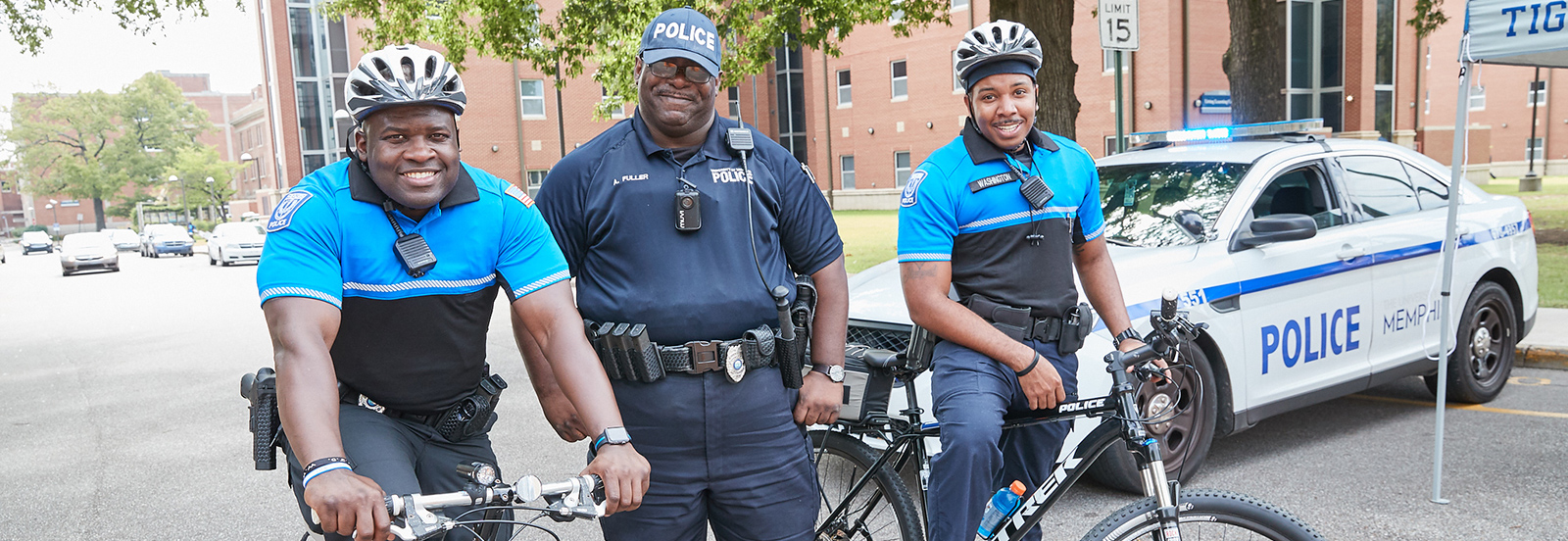 police officers with bikes