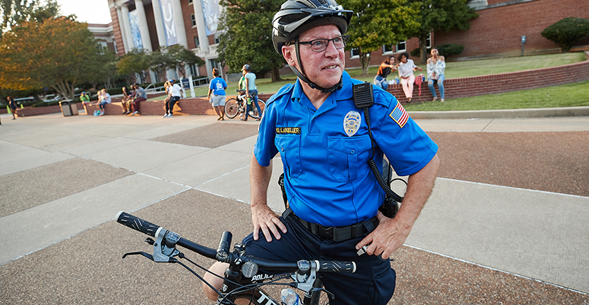 bike patrol police officer