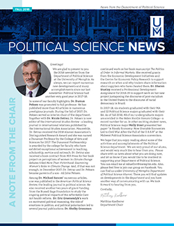 Department of Political Science Newsletter