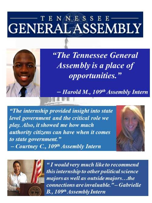 Tennessee General Assembly Internship
