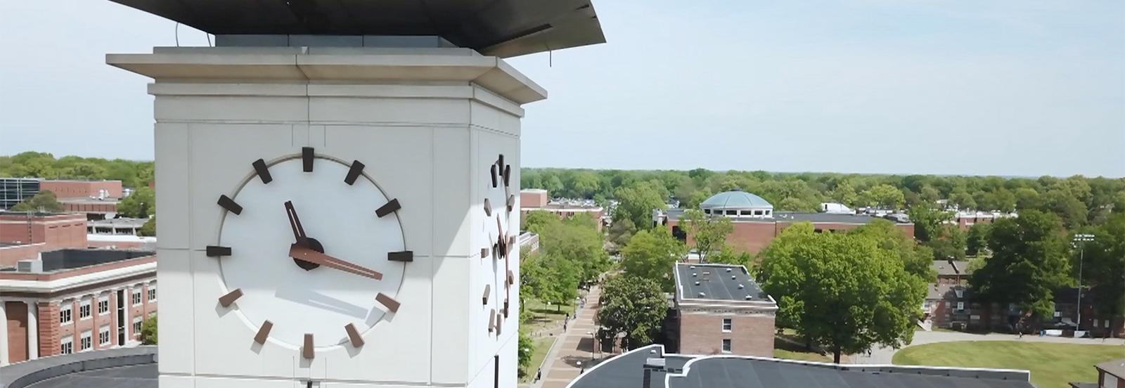 closeup of clocktower