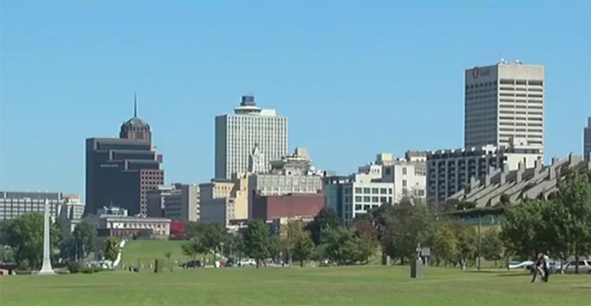 Downtown Memphis buildings landscape