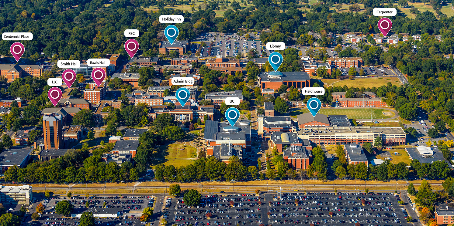 Aerial View of Main Campus Residence Halls
