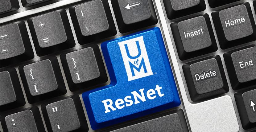 Keyboard with ResNet highlight blue color Enter key