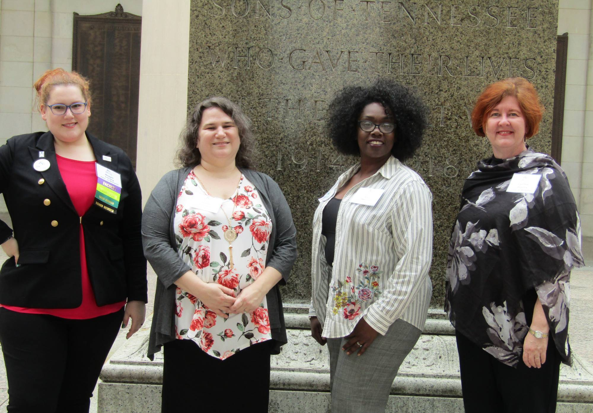 Instructor Maggie Landry and several students at the Tennessee State House in Nashville, TN