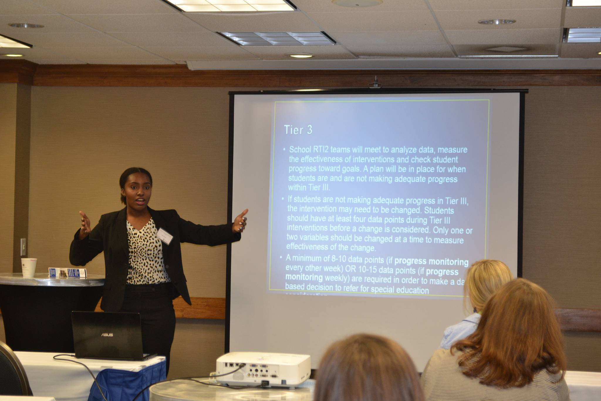 A studen presents at the Annual Social Work Symposium