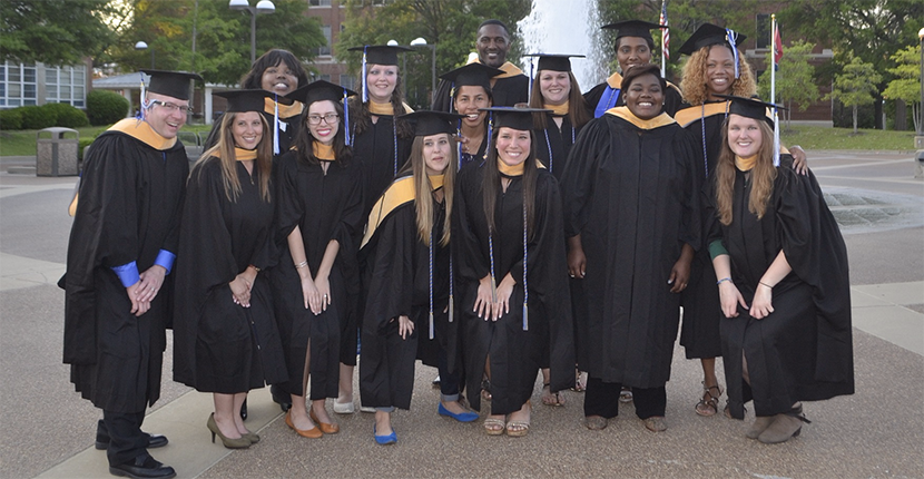 MSW students at graduation, May, 2016