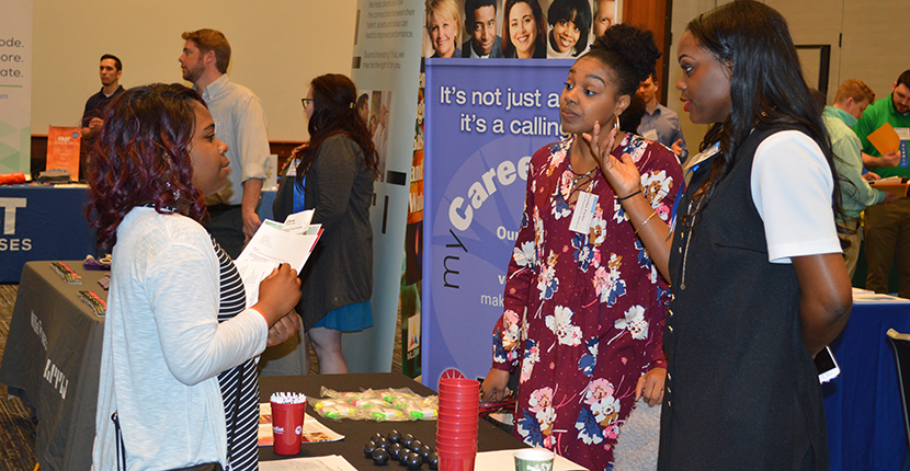 Resources for professional attire, sample resumes, elevator pitch, job searches and more are available to students and alumni.
