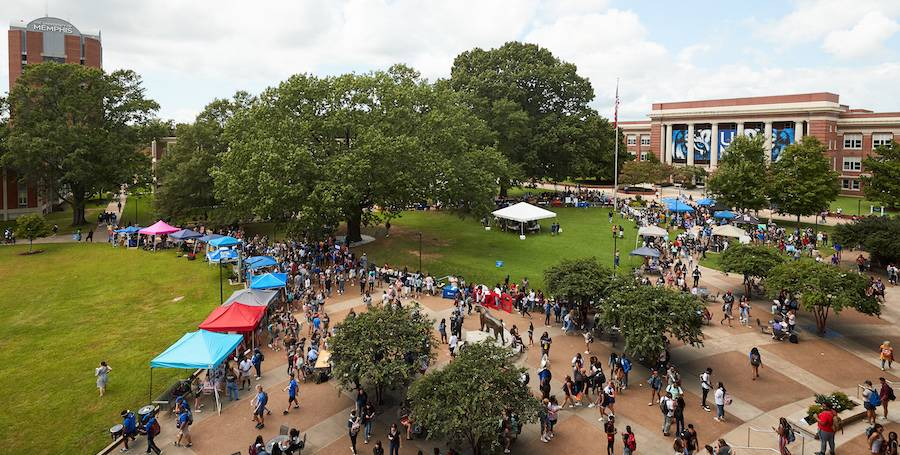 students at the involvement fair
