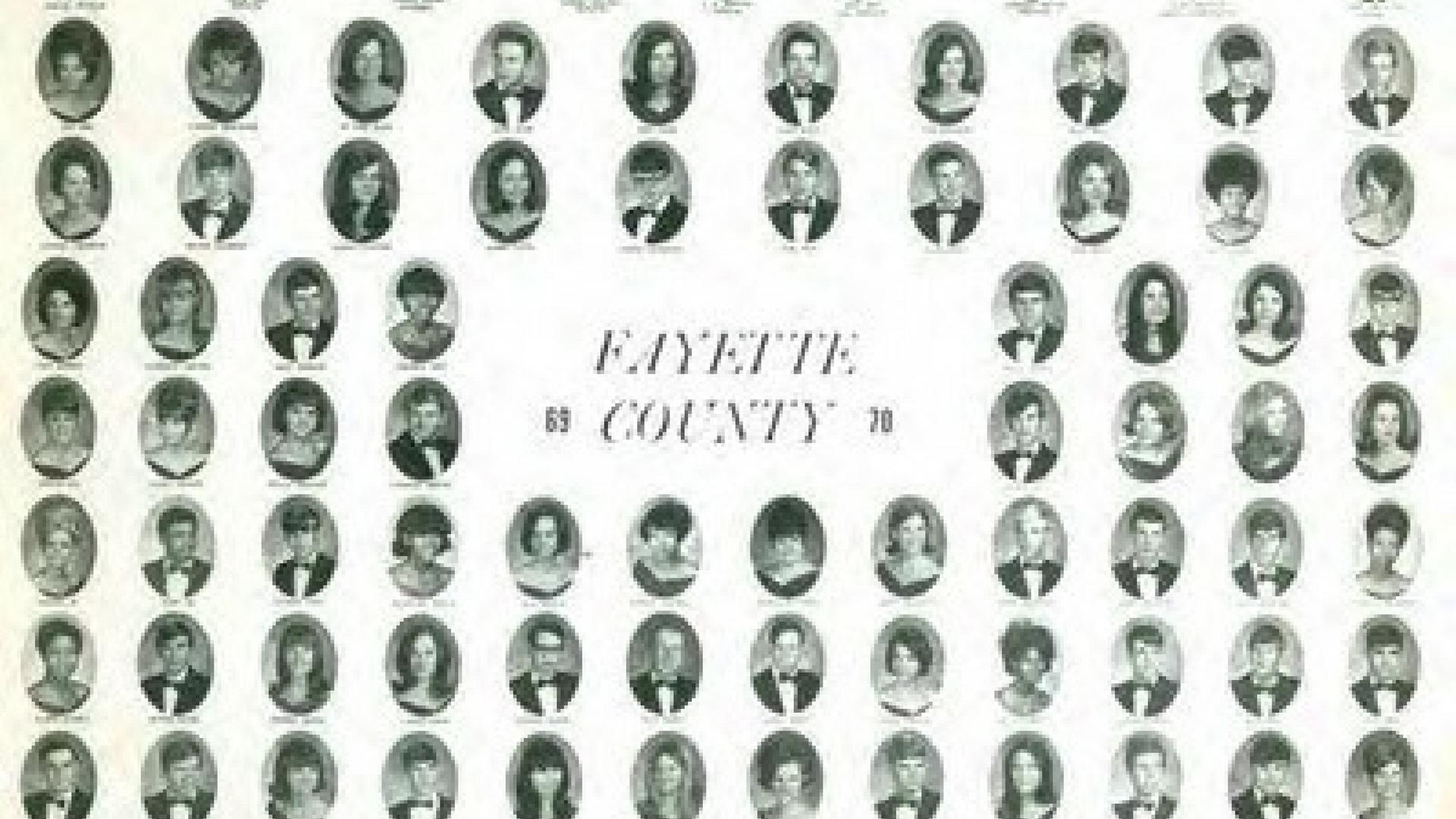 Graduating Class 1970, Fayette County High School