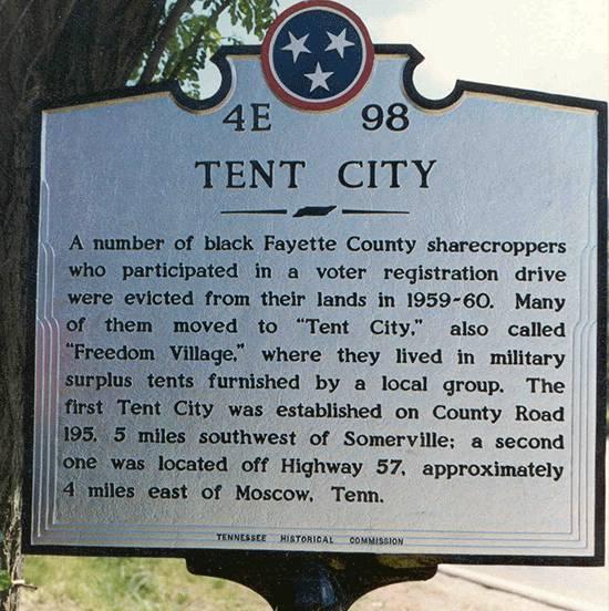 Tent City Marker