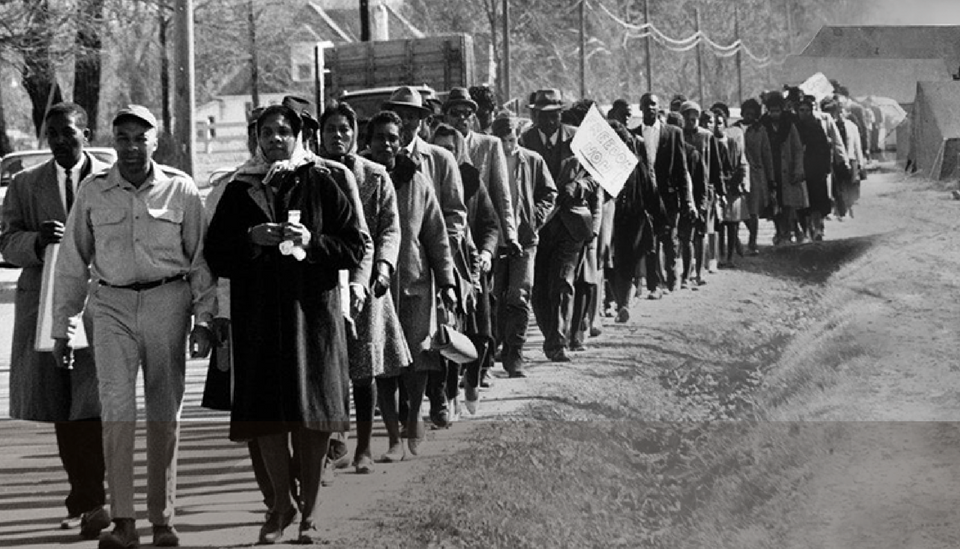Fayette County Civil Rights Activist Marching