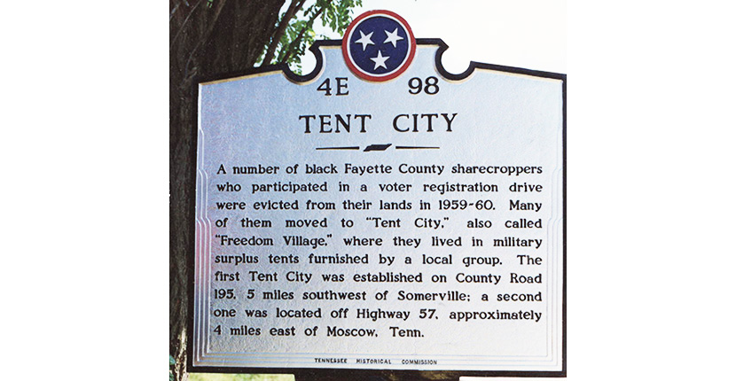 Tent City Marker