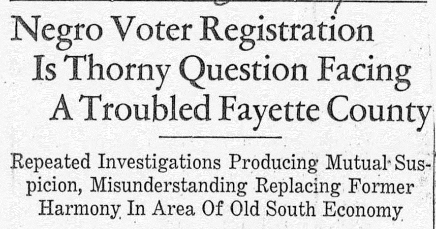 Voting in Fayette