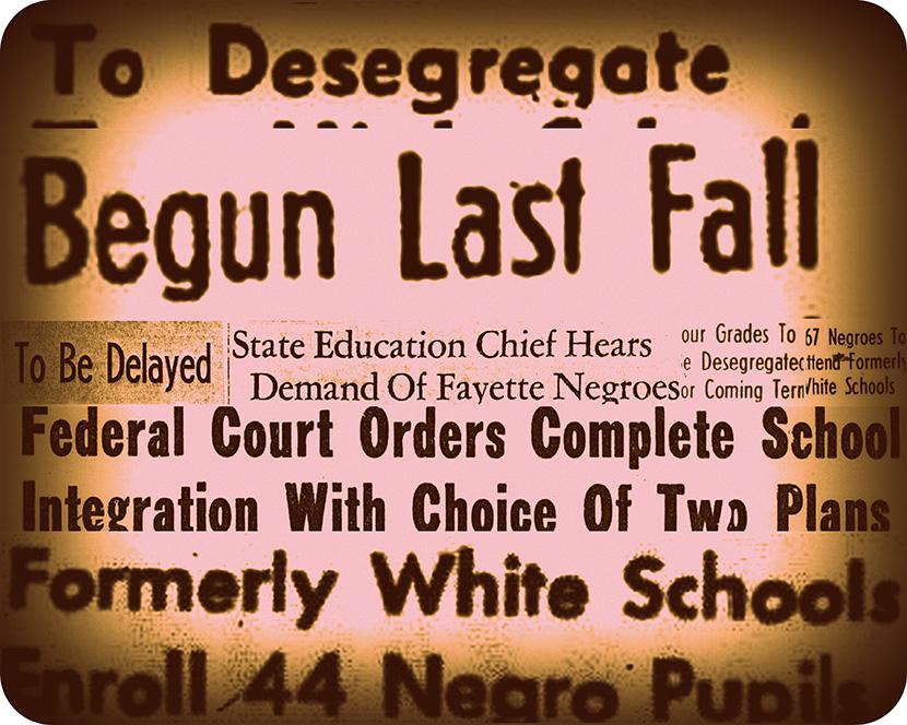 desegregation collage