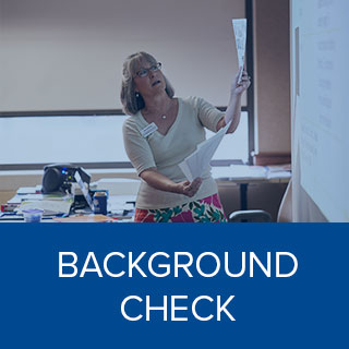 Clink here to learn more about Background Check