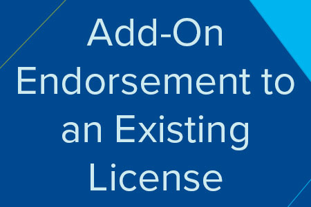 Add-On Endorsement to and Existing License