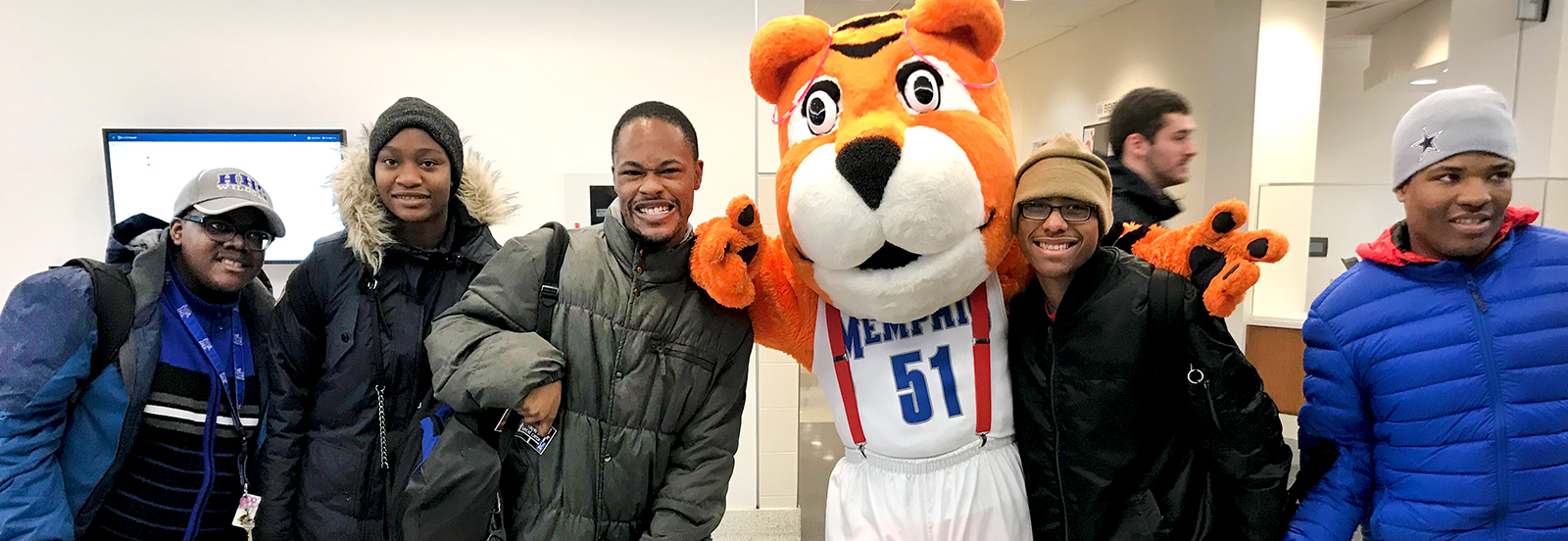 TigerLIFE students with Pouncer