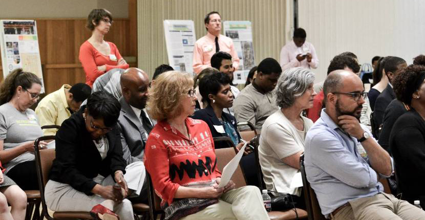Attendees of UMDC's Health Places Summit engage with event's panel of experts.