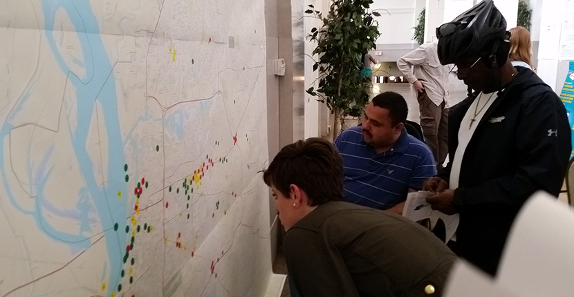 "Attendees of ""Let's Stay Together, Memphis"" participate in mapping exercise."