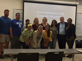 State Rep Thompson visit