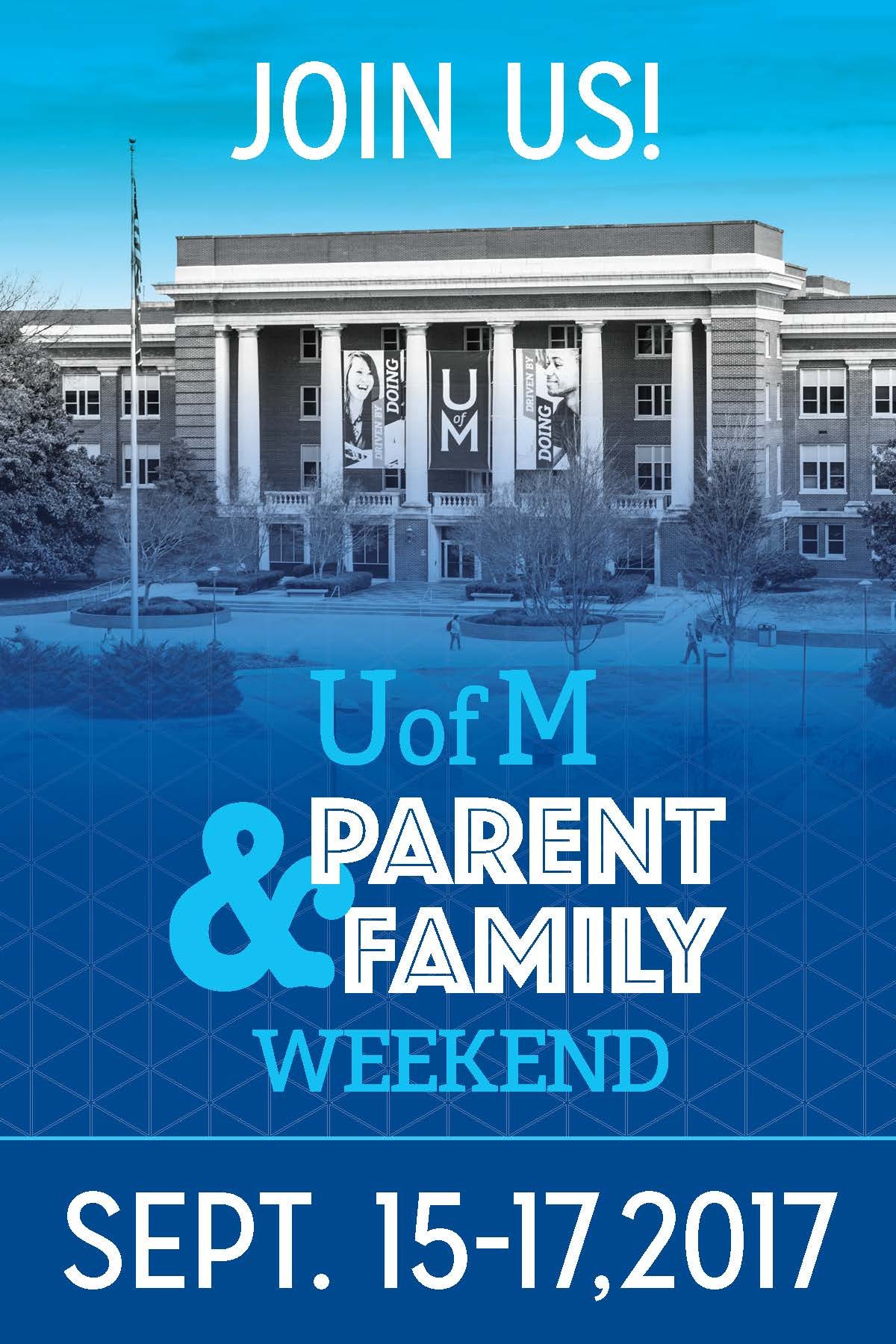 Parent & Family Weekend 2017 Save the Date